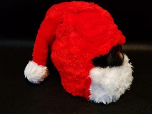 Nakładka na kask – czapka św. Mikołaja