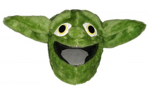 Green Alien Czapkokask